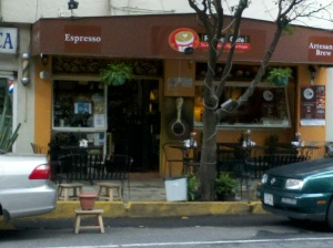 Random cafe in Mexico City
