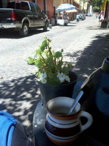 Coffee at Mono Azul before leaving Malinalco