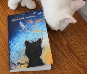 Phineas the thumb-cat inspects the very first copy of the bookbook!